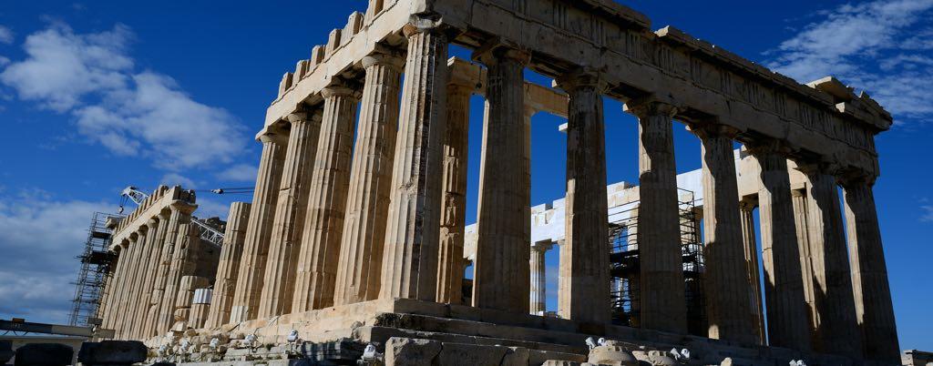 Parthenon byggnaden i Aten